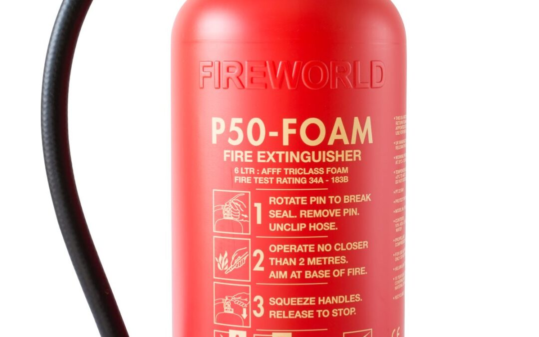 What are the different coloured fire extinguishers?